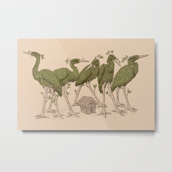 Bird Forest Metal Print