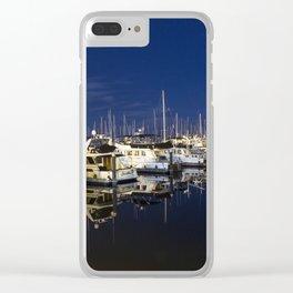 Midnight Marina Clear iPhone Case