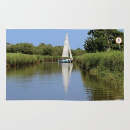 Sailing on the Norfolk Broads Rug