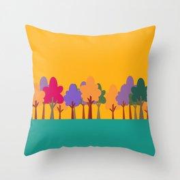 Whimsical trees Throw Pillow
