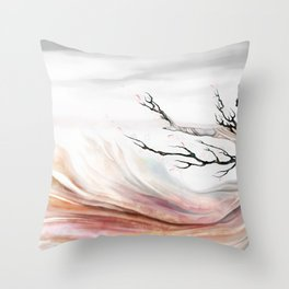 Sakura Revealed Throw Pillow