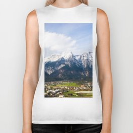 Village Beneath the Mountain Biker Tank