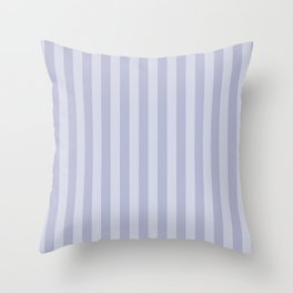Gray blue simple stripes . Throw Pillow