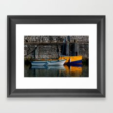 Carnlough Harbour Framed Art Print
