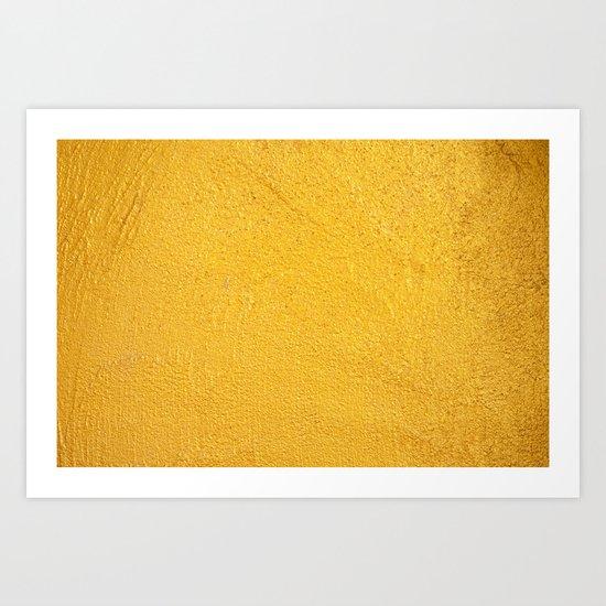 GOLDEN WALL / TEXTURE Art Print