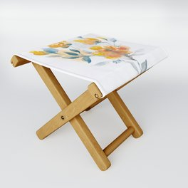 Watercolor Floral #3 Folding Stool