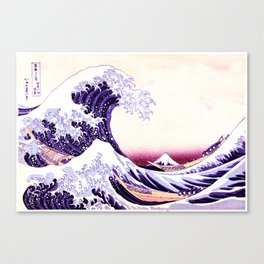 The Great wave purple fuchsia Canvas Print
