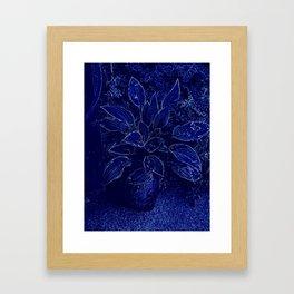 Hosta in Blue Framed Art Print