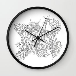 Pussy Lover Adult Coloring Design Wall Clock