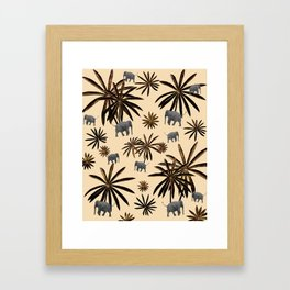 Palm Tree Elephant Jungle Pattern #3 (Kids Collection) #decor #art #society6 Framed Art Print