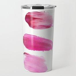 Pink Painter (Minimal Abstract) Travel Mug