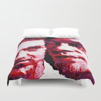 fight Duvet Covers featuring FIGHT! by Christopher Brewer Art