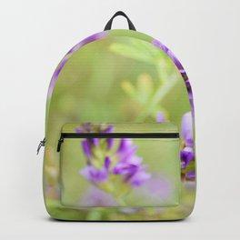 Purple Wildflower  Backpack