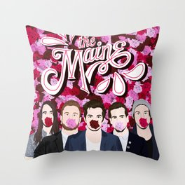 The Maine roses Throw Pillow