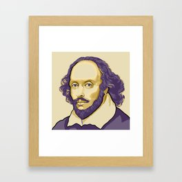 Shakespeare - royal purple and yellow Framed Art Print