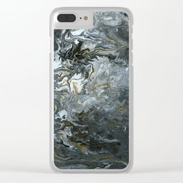 Rustic Fluidity Clear iPhone Case