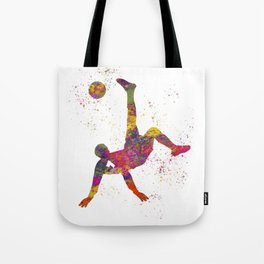 Soccer player isolated 09 in watercolor Tote Bag