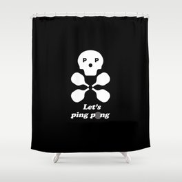 Let's Ping Pong Shower Curtain