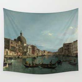 A View of the Grand Canal by Canaletto Wall Tapestry