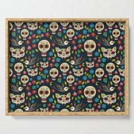 Day Of The Dead Pattern | Dia De Los Muertos Skull Serving Tray