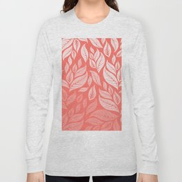 LIVING CORAL LEAVES 2 Long Sleeve T-shirt