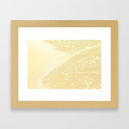 Kapalua Beach sparkling golden sand and seafoam Maui Hawaii Framed Art Print