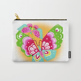 Rice Paper Butterfly Art Carry-All Pouch