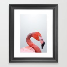 Geometrical - Flamingo Framed Art Print