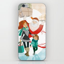 XMas Shopping Time iPhone Skin