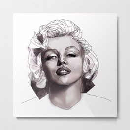 Geometric Marilyn Metal Print