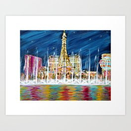 Miss You Las Vegas. Painting. Inspirations Collection Art Print