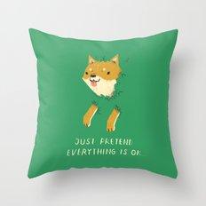 bush shiba Throw Pillow