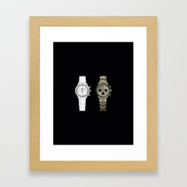 dual watch white and silver Framed Art Print
