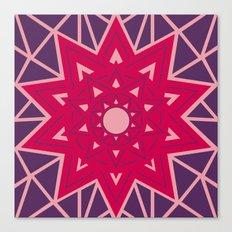 Geometric Star Mandala Canvas Print