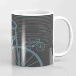 Grey Bike by Friztin Coffee Mug