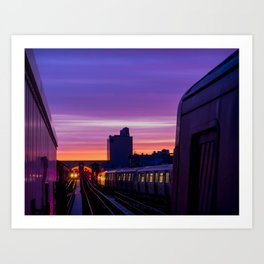 Commuter Sunrise Art Print
