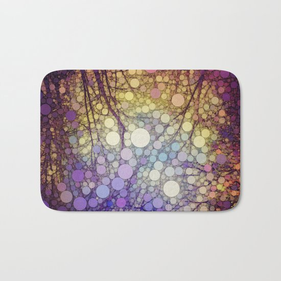 Woodland Abstract Bath Mat