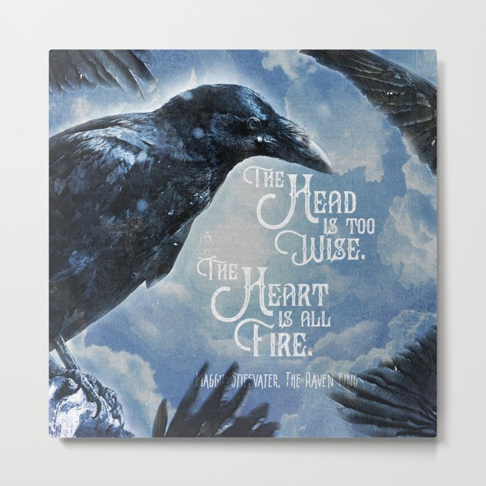 The Raven King - All Fire Metal Print
