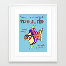 Leslie Knope Compliments: Tropical Fish  Framed Art Print