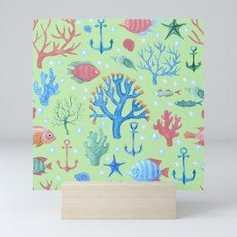 Under The Sea Colorful Cute Whimsical Print Mini Art Print