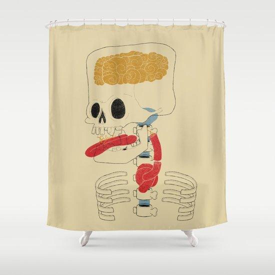 Square Skull...   Shower Curtain