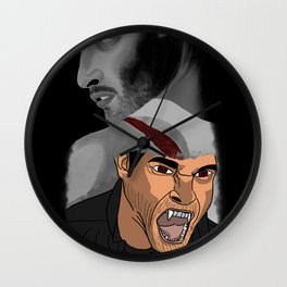 Open Wound Wall Clock