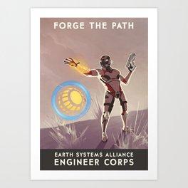 Mass Effect 3- Engineer Propaganda Art Print