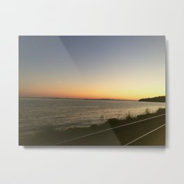 Oceanview Sunset Metal Print