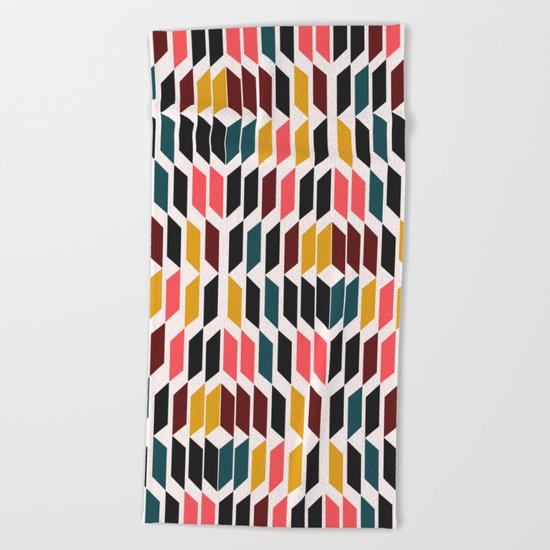 Geometric vision Beach Towel