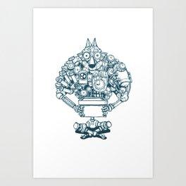 The Wolf Machine Art Print