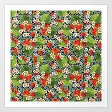 Strawberry Heraldic Art Print