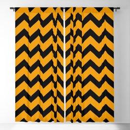 Chevron (Black & Classic Orange Pattern) Blackout Curtain