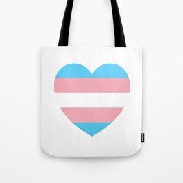 Trans Pride Heart Tote Bag