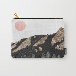 Flatirons Boulder Colorado - Climbing Gold Mountains Carry-All Pouch